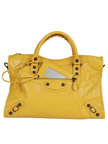 BALENCIAGA WOMEN'S 281770D94JT7155 YELLOW LEATHER HANDBAG