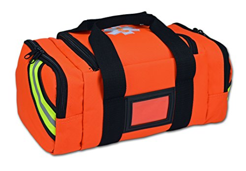 Lightning X Value Compact Medic First Responder EMS/EMT Stocked Trauma Bag w/Standard Fill Kit B - Orange by Lightning X Products (Image #1)
