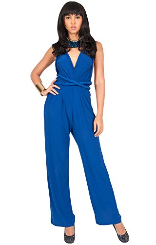 6ae49303080 ... KOH Womens Infinity Convertible Wrap Party Cocktail Jumpsuit Romper  Pants.   