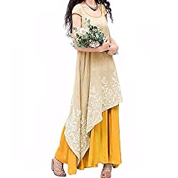 Vintage Vestidos Women Dress Summer Casual Loose O Neck Short Sleeve Embroidery Long Maxi Dress Plus Size Yellow S