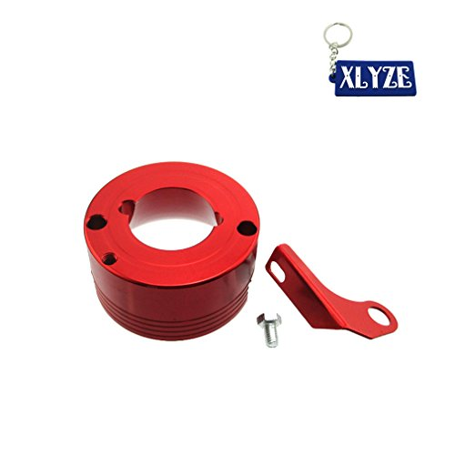 (XLYZE Air Filter Adapter With Choke Bracket For 11HP 13HP Honda GX340 GX390 Clone Engine Go Kart Predator 301cc 420cc (Red))