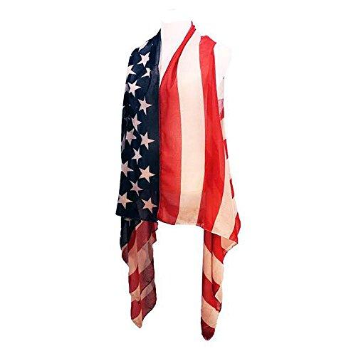 - Crown Womens Patriotic American USA Flag Fashion Scarf Vest