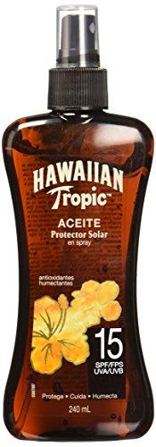 Hawaiian Tropic Y03156 Aceite Spray FPS15+, 240ml