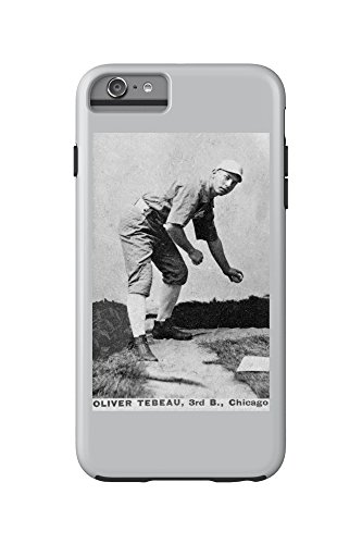 Oliver Baseball (Chicago White Stockings - Oliver Tebeau - Baseball Card (iPhone 6 Plus Cell Phone Case Cell Phone Case, Tough))