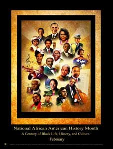 (2015 National African American History Month Poster A Century of Black Life, History, and Culture)