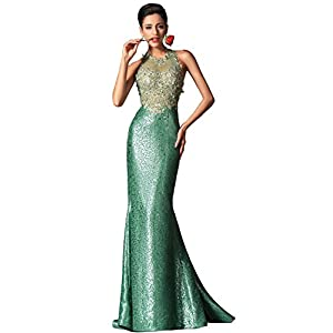 bbd4a2d6633e eDressit Green Halter Mermaid Evening Dress Prom Ball Gown (02149704)