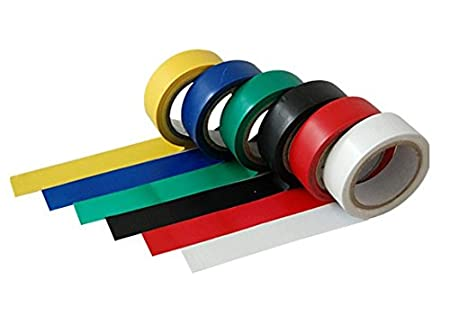 6 ROLLS ASSORTED COLOURS PVC TAPE ELECTRICAL INSULATION SPORTS DIY MIX COLOR