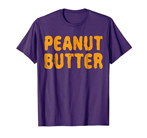 Mens Peanut Butter T-Shirt Matching Halloween Costume Medium Purple -