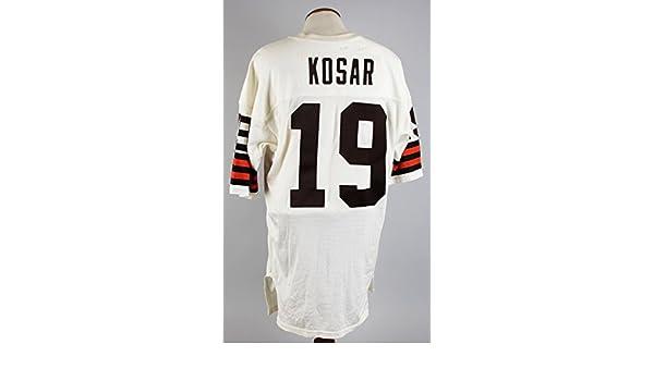 500c5f316b0 ... germany 1985 87 cleveland browns bernie kosar game worn jersey coa 100  team at amazons sports