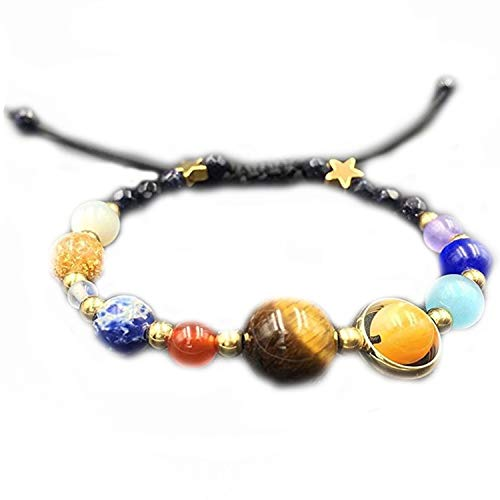 Solar System Eight Planets Bracelet Guard Stars Natural Stone Beads,NewstyleCsection ()