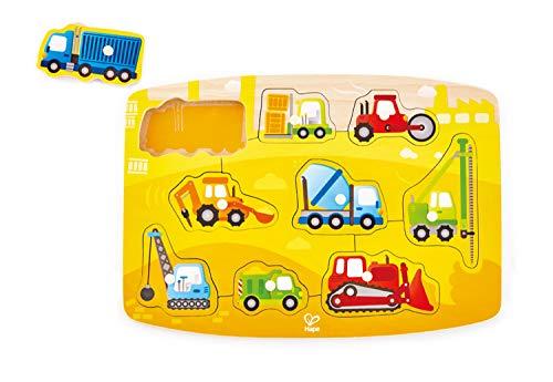 Hape Construction Peg Puzzle Game, Multicolor, 5'' x 2''