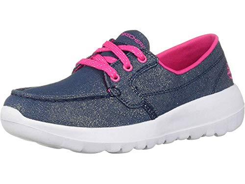 - Skechers GO Walk Joy Shore Brights Girls Sneaker Oxford Denim/Hot Pink 2.5