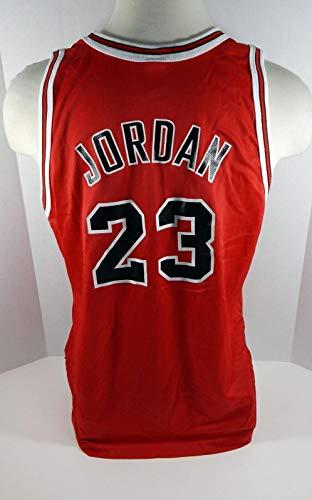 1996 Chicago Bulls Michael Jordan #23 Replica Red Champion Jersey Gold Logo - NBA Unsigned Miscellaneous