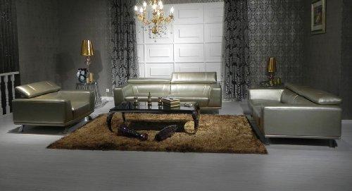 grey leather living room furniture. 8334 Bronze Top Grain Italian Leather Living Room Sofa Set Furniture