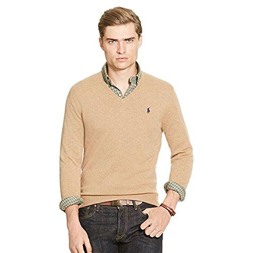 ralph-lauren-mens-polo-v-neck-pima-cotton-pony-logo-sweater-camel-heather-m