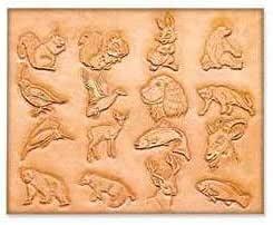 Plantilla de cuero patrón de los animales-craftaid Diseño Leathercraft