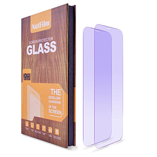 iPhone X Screen Protector (2 Packs) Anti Blue Light Ray, NutFilm Tempered Glass Screen Protector Film for Apple iPhoneX / iPhone 10 [5.8 Inch] [Anti-Glare][Case Friendly] [Bubble Free][9H Hardness]