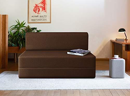 Aart Store 3×6 Feet High-Density Foam Sofa Cum Bed Furniture One Seater (Brown)