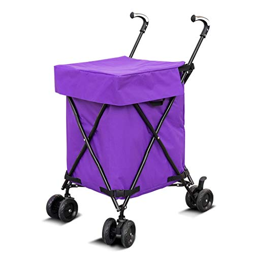 Hotel cart, Three-Second Folding Towel Storage Box Hotel Room Service car Hair Trolley (Color : A) by HT trolley (Image #7)