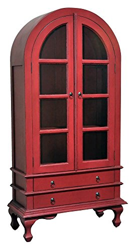 Wooden Cabinet in Light Distressed Bali Red Finish
