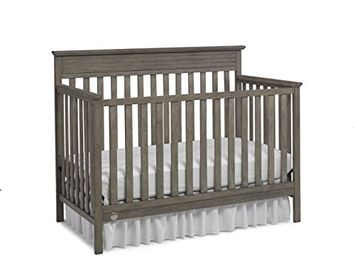 Fisher-Price Newbury 4-in-1 Convertible Crib, Vintage Grey
