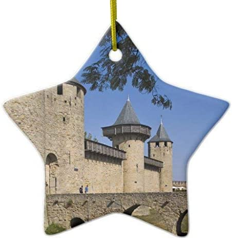 GFGKKGJFF Adornos de Navidad, Castillo de Cuentas, Carcassonne, AUDE, Languedoc, Estrella de cerámica Adornos de Navidad para árbol de Navidad, Recuerdo, Nuevas Parejas: Amazon.es: Hogar