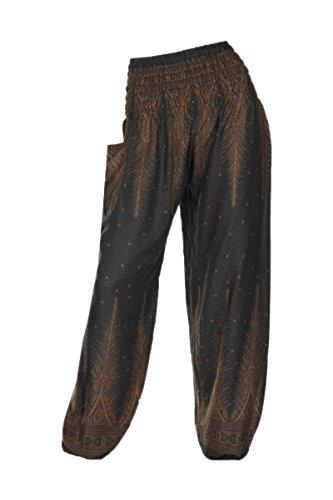 HIPPIE diversi Peacock HAREM con pantaloni motivi Grey 2 pantaloni ALADDIN 18 E87qWT7n