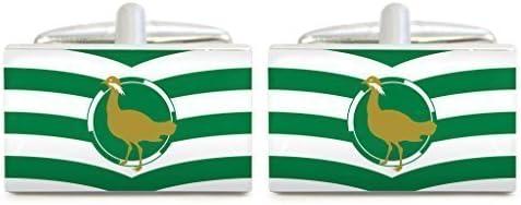 Wiltshire County Flag Design Cufflinks in Gift Box