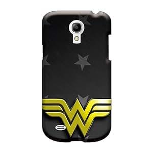 AshleySimms Samsung Galaxy S4 Mini High Quality Hard Cell-phone Case Unique Design High-definition Wonder Woman Logo Pattern [uyM3531rBLD]
