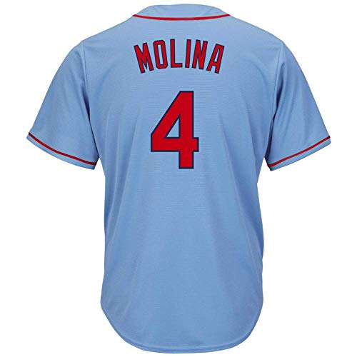 Men's/Women/Youth_Cardinals_Yadier_Molina_#4_Light Blue_Alternate_Cool_Base_Player_Jersey ()
