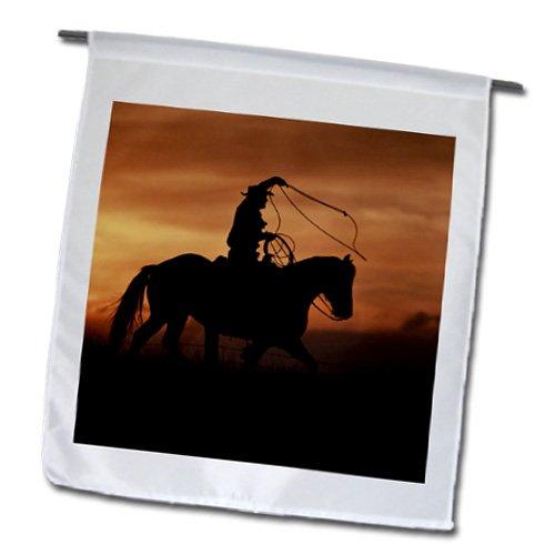3dRose fl_97366_1 Cowboy in Fall, Big Horn Mt, Shell, Wyoming-US51 Jre0103-Joe Restuccia III Garden Flag, 12 by 18-Inch