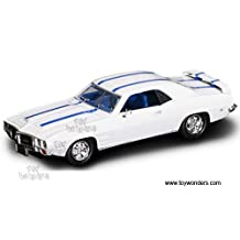 Yatming Road Signature - Pontiac Firebird Trans Am Hard Top (1969, 1/43 scale diecast model car, White w/ Stripes) 94238 diecast cars toy vehicles motorcycles movies by TW TOys