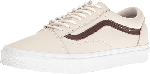 Vans Unisex Old Skool Beige/Brown Leather Fashion Sneakers Shoes (10.5 men/12 - Leather Beige Brown