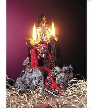 19cm Kerze wird zum Aschenbecher Halloween