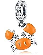 Junyi Jewelry Mermaid Charm 925 Sterling Silver Fish Charm Dolphin Charm Whale Charm Ocean Charm Shark Charm for Pandora Charm Bracelet