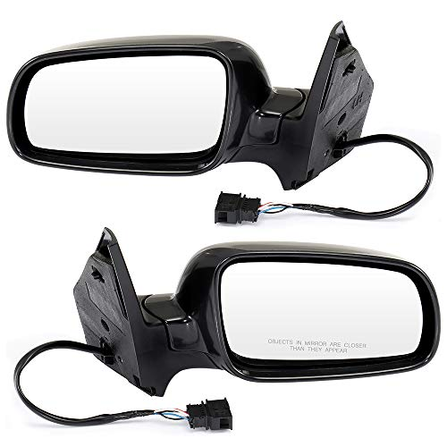 ECCPP Side Mirrors, A Pair of Rear View Mirrors Power Heated Manual Folding Black Door Mirror Replacement fit for 1999-2010 Volkswagen Jetta 1999-2006 Volkswagen Golf