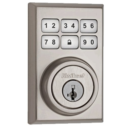 Kwikset 910 Z-Wave Contemporary SmartCode Electronic Deadbolt featuring SmartKey in Satin Nickel Kwikset Corporation