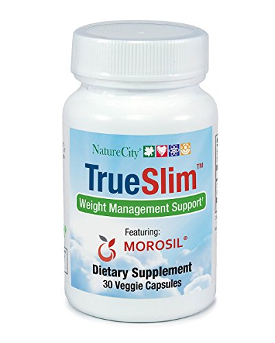 TrueSlim Weight and Fat Loss Supplement Stimulant Free from Sicilian Moro Oranges - 30 Veggie Capsules (Single Bottle)