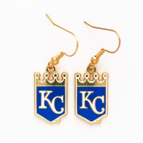 [MLB Kansas City Royals Earrings Jewelry Card] (Mlb Jewelry)