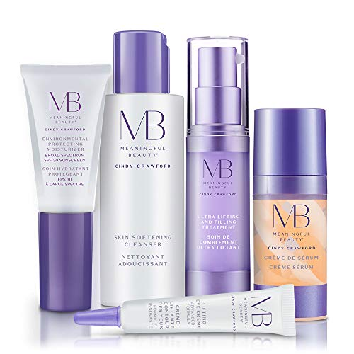 Meaningful Beauty - Anti-Aging Daily Skincare System - for Lifting and Firming - 5 Piece/Travel Size Kit - MT.2050 Anti Aging Skin Care System