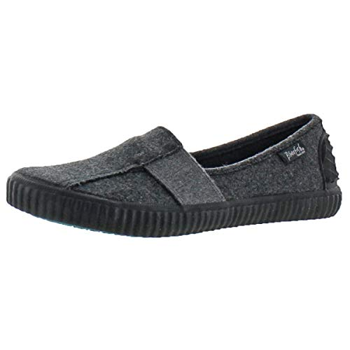 Blowfish Shanghai Women's Flannel Slip-On Skimmer Casual Shoes Gray Size 5