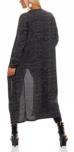 malito Cárdigan Chaqueta Envolver Bolero Capote Rebeca Capucha Oversize Suéter Casual Basic 5030 Mujer Talla Única negro