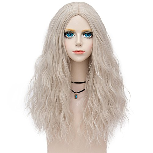 Probeauty Miracle &Forest Lady Collection Heat Resistant Synthetic Wigs Long Curly Women Cosplay Wig (60cm, Silver Grey F4)
