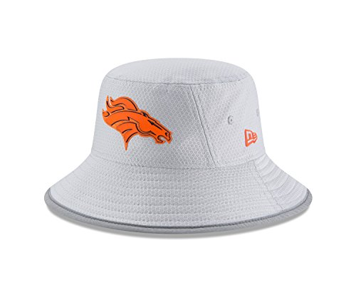 Denver Broncos Hats - New Era Denver Broncos NFL 2018 Training Camp Sideline Bucket Hat - Gray