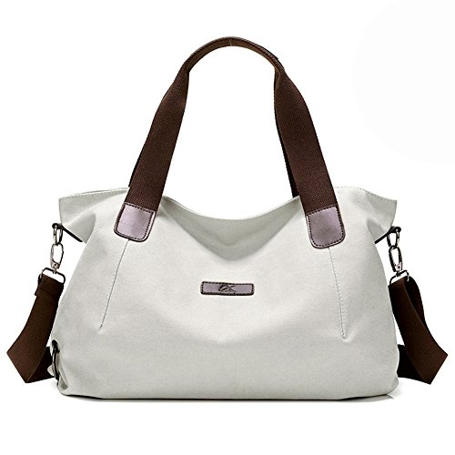 KARRESLY Women's Casual Hobo Shoulder Bags Canvas Daily Crossbody Tote Work Shopper Handbag Purses(beige) ()