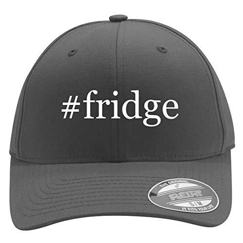 #Fridge - Men's Hashtag Flexfit Baseball Cap Hat, Silver, Large/X-Large