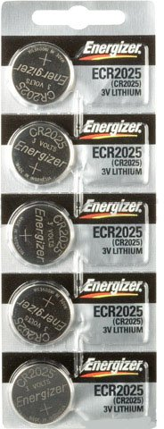 Replacement Batteries Energizer CR2025 for Cayeye, Sigma, Knog, Planet Bike & Mnay Others. Card of 5.