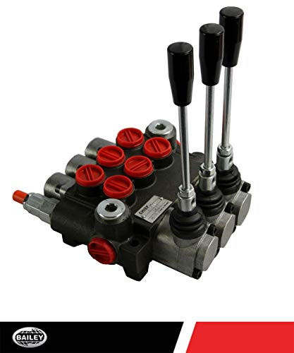 CHIEF G Series P40 Directional Control Valve: 3 Spool, 3-pos. Spring Center, 10 GPM, 3625 PSI, SAE #8 Work and SAE #10 Outlet Ports, 1500-3625 PSI Relief Setting, 220908 ()