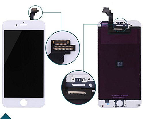 new concept e4738 565c7 ZTR White LCD Display Touch Digitizer Screen Assembly Replacement for  iPhone 6 Plus 5.5