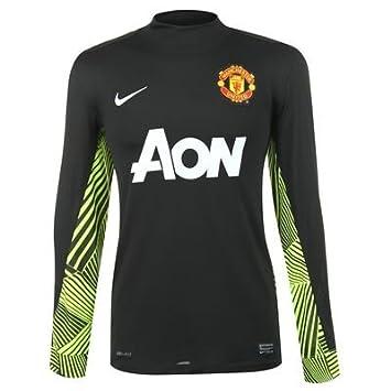 a96f0a133be Nike 2011-12 Man Utd Home Goalkeeper Shirt (Black)  Amazon.co.uk ...